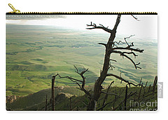 Carry-all Pouch featuring the photograph Stormy Tree by Mary Carol Story