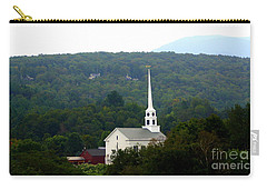 Carry-all Pouch featuring the photograph Stowe Community Church by Patti Whitten