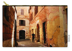Carry-all Pouch featuring the photograph Strade Di Ciottoli by Micki Findlay