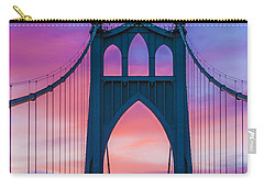 Straight Down The Bridge Carry-all Pouch