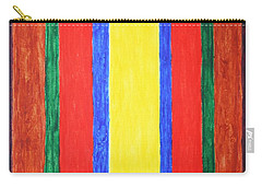 Carry-all Pouch featuring the painting Vertical Lines by Stormm Bradshaw