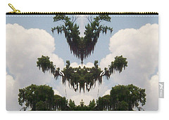 Carry-all Pouch featuring the photograph Strange Halloween Tree Creature by Belinda Lee