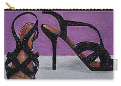 Strappy Black Heels For Maddy Carry-all Pouch