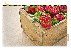 Strawberries Carry-all Pouch by Edward Fielding