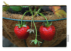 Strawberries Carry-all Pouch by Pamela Walton