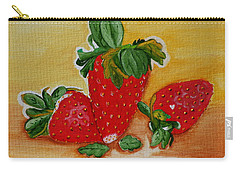 Carry-all Pouch featuring the painting Strawberry Delight by Johanna Bruwer