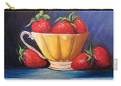 Strawberry Teacup Carry-all Pouch