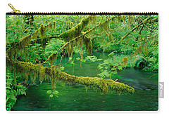Stream Flowing Through A Rainforest Carry-all Pouch