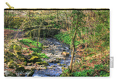 Carry-all Pouch featuring the photograph Stream In Wales by Doc Braham