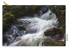 Carry-all Pouch featuring the photograph Stream On Eume River Galicia Spain by Pablo Avanzini