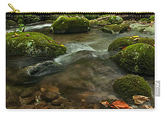 Carry-all Pouch featuring the photograph Stream With The Color Of Early Fall. by Debbie Green