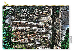 Carry-all Pouch featuring the photograph Street In Jerusalem by Doc Braham