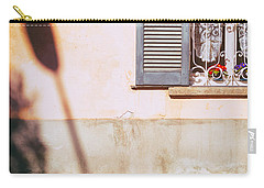 Carry-all Pouch featuring the photograph Street Lamp Shadow And Window by Silvia Ganora