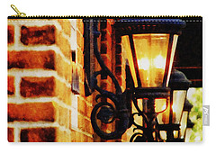 Street Lamps In Olde Town Carry-all Pouch by Michelle Calkins