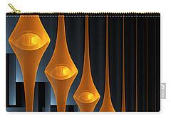 Carry-all Pouch featuring the digital art Street Lights by Gabiw Art