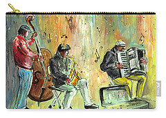 Street Musicians In Dublin Carry-all Pouch by Miki De Goodaboom