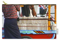 Street Seller At The Foreshore Of The Yangon River Yangon Myanmar Carry-all Pouch