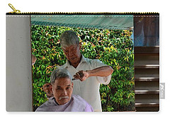Street Side Barber Cuts Client Hair Singapore Carry-all Pouch
