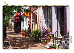 Alexandria Va - Street With Art Gallery And Tobacconist Carry-all Pouch