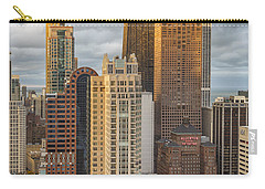 Streeterville From Above Carry-all Pouch by Adam Romanowicz