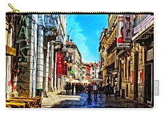 Streets Of Lisbon 1 Carry-all Pouch by Mary Machare