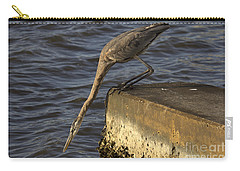 Carry-all Pouch featuring the photograph Stretch - Great Blue Heron by Meg Rousher