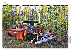 Carry-all Pouch featuring the photograph Stripped Chevy by Cathy Mahnke