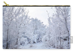 Stroll Through A Winter Wonderland Carry-all Pouch by Diane Alexander