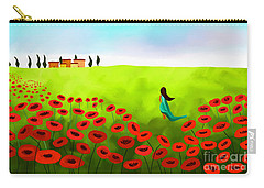 Strolling Among The Red Poppies Carry-all Pouch