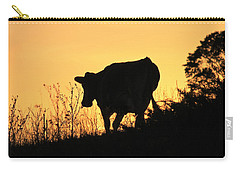Carry-all Pouch featuring the photograph Strolling Into The Sunset by Penny Meyers