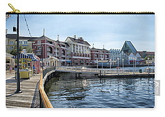 Strolling On The Boardwalk At Disney World Carry-all Pouch by Thomas Woolworth