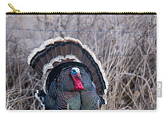 Carry-all Pouch featuring the photograph Strutting Turkey by Michael Chatt