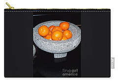 Study In Orange And Grey Carry-all Pouch