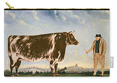 Study Of A Shorthorn Carry-all Pouch by William Joseph Shayer