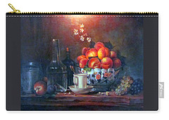 Carry-all Pouch featuring the painting Study Of Peaches by Donna Tucker