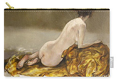 Study Over A Silk Drapery Carry-all Pouch