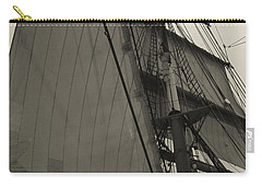 Suare And Triangle Black And White Sepia Carry-all Pouch