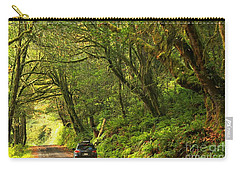 Subaru In The Rainforest Carry-all Pouch by Adam Jewell