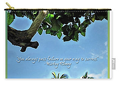 Success And Failure Botanical Inspiration Carry-all Pouch by Joan  Minchak