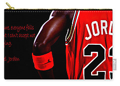 Carry-all Pouch featuring the digital art Success Quote 2 by Brian Reaves