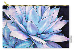 Carry-all Pouch featuring the digital art Succulent In Blue And Purple by Jane Schnetlage