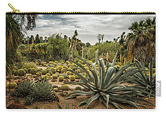 Carry-all Pouch featuring the photograph Succulents At Huntington Desert Garden No. 3 by Belinda Greb