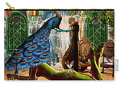 Carry-all Pouch featuring the painting Suck My Peacock by Ally  White