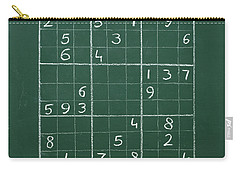 Sudoku On A Chalkboard Carry-all Pouch