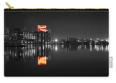 Sugar Glow - Classic Iconic Domino Sugars Neon Sign, Inner Harbor Baltimore, Maryland - Color Splash Carry-all Pouch