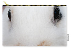 sugar the easter bunny 1 -A curious and cute white rabbit close up Carry-all Pouch