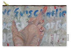 Je Suis Charlie Finger Painting To Al Qaeda Carry-all Pouch