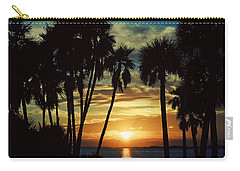 Carry-all Pouch featuring the photograph Sultry Sunset by Janie Johnson