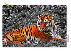 Carry-all Pouch featuring the photograph Sumatran Tiger by Davandra Cribbie