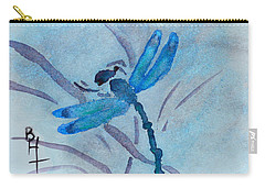 Sumi Dragonfly Carry-all Pouch by Beverley Harper Tinsley